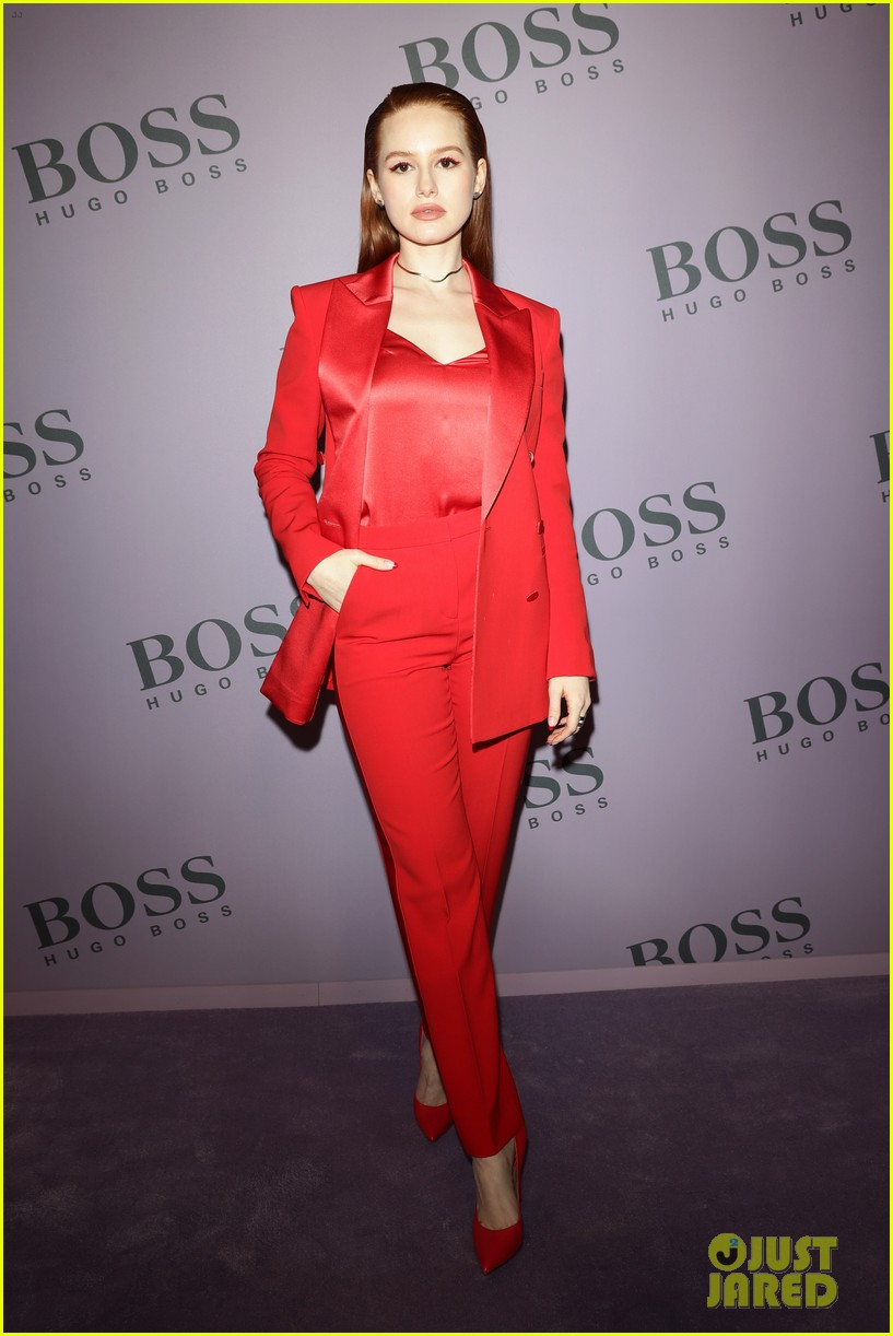 madelaine petsch surrounds herself with friends at boss fashion show in milan 11