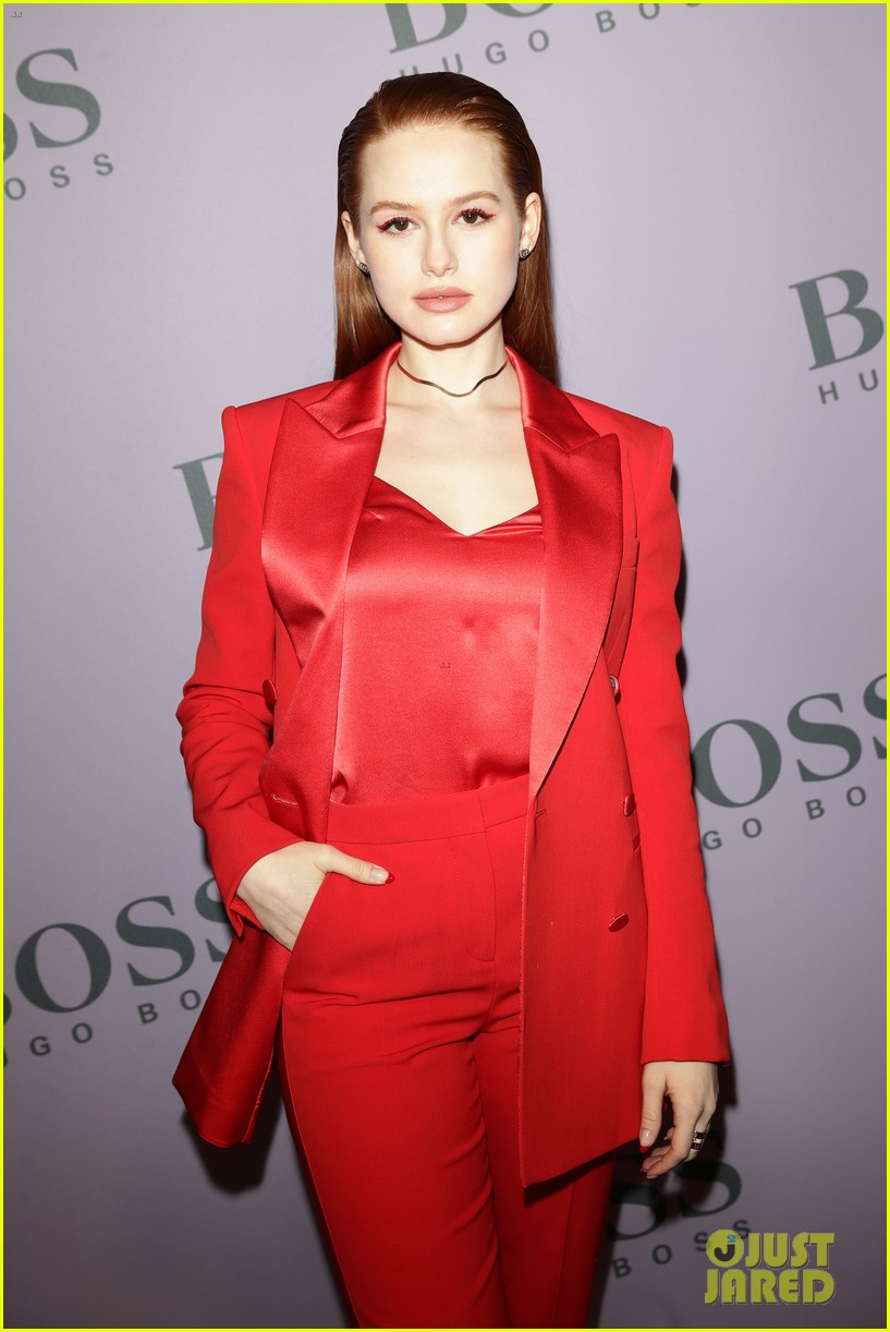 madelaine petsch surrounds herself with friends at boss fashion show in milan 22
