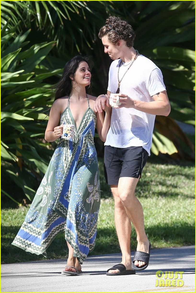 shawn mendes goes shirtless for sunday stroll with camila cabello 16