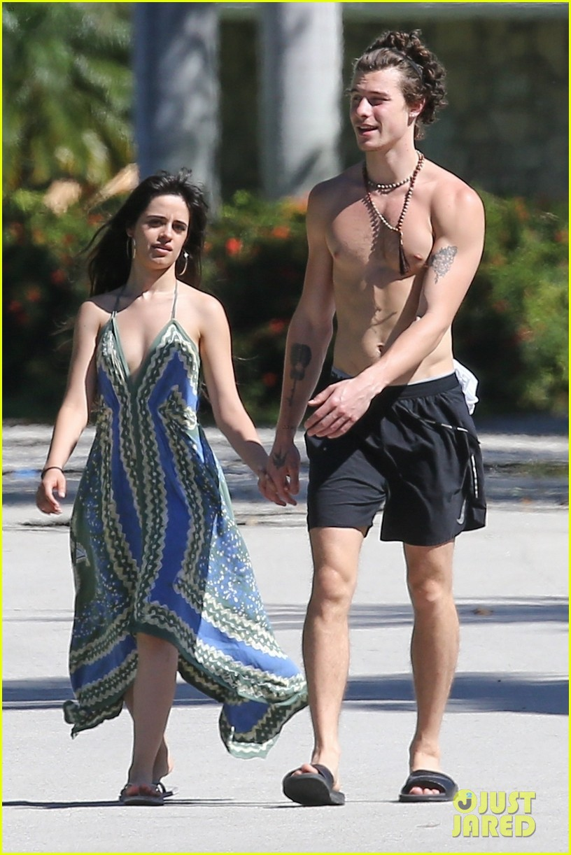 shawn mendes goes shirtless for sunday stroll with camila cabello 31