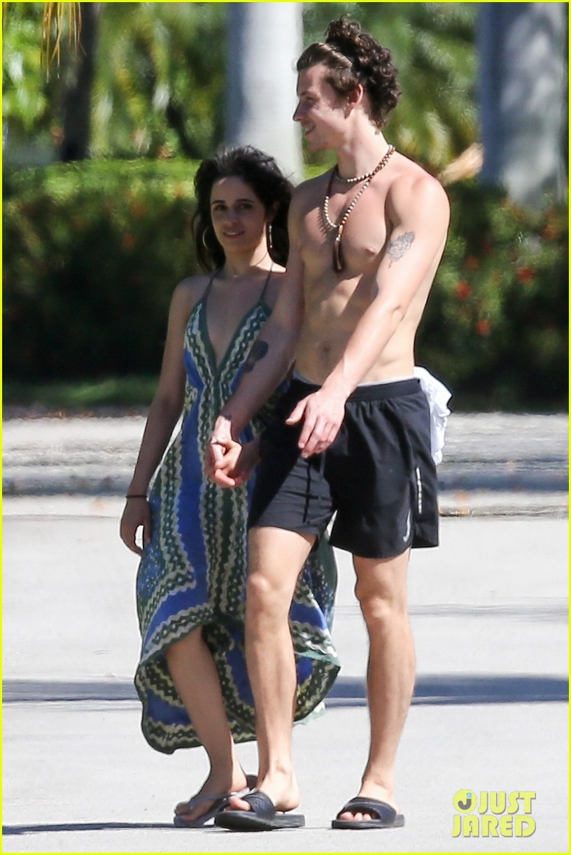 shawn mendes goes shirtless for sunday stroll with camila cabello 47