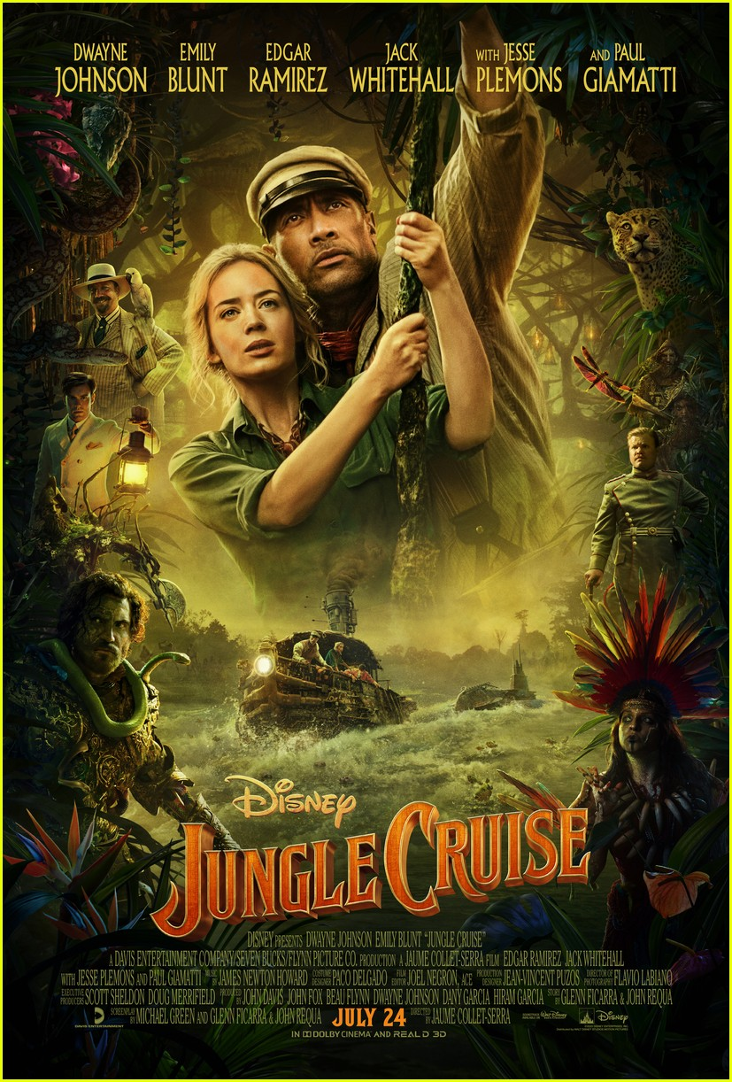 dwayne johnson emily blunt show off some of the jungle cruise comedy in new trailer 02
