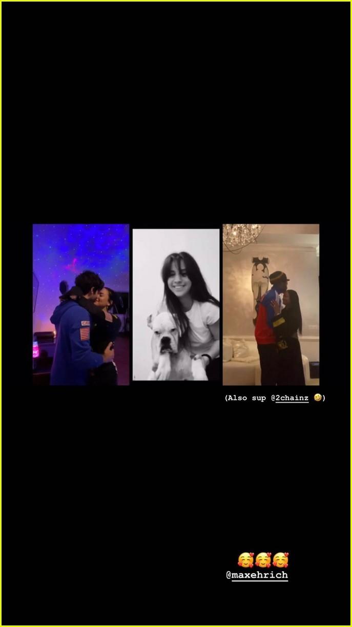 demi lovato boyfriend max ehrich kiss and dance in ariana justin music video 02