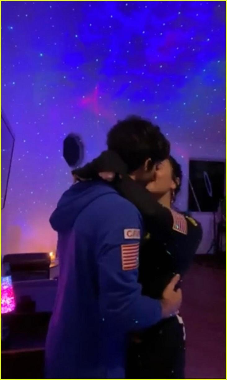 demi lovato boyfriend max ehrich kiss and dance in ariana justin music video 05
