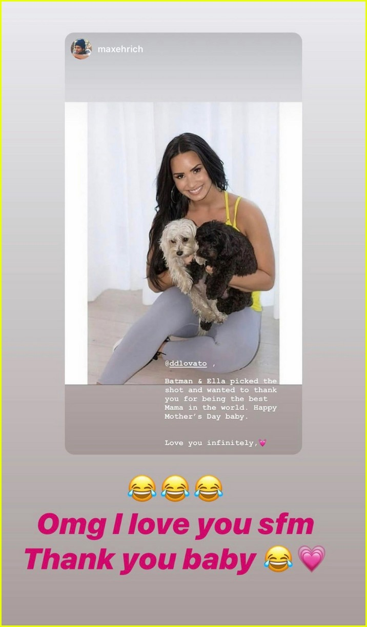 max ehrich wishes demi lovato happy mothers day from her dogs 01