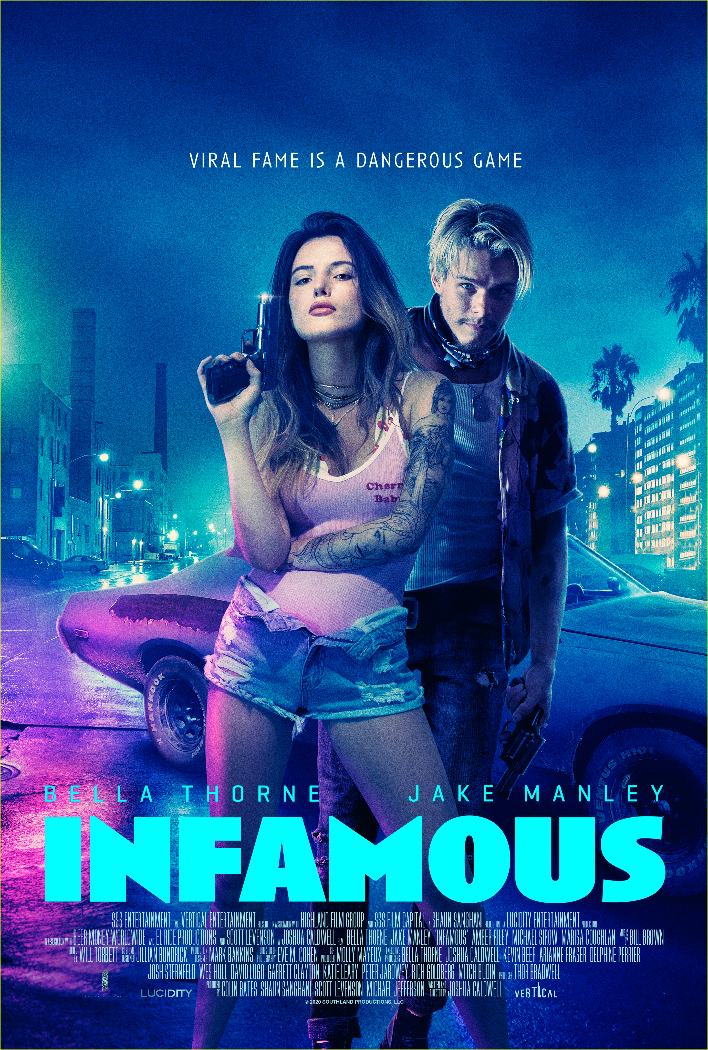 bella thorne is up to no good in infamous trailer 02