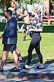 pregnant sophie turner at park with joe jonas family 76