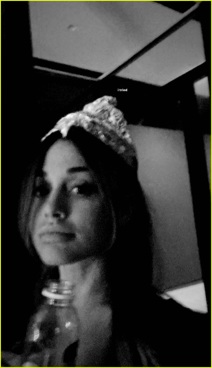 ariana grande dalton gomez try to recreate foil hats from signs movie 01