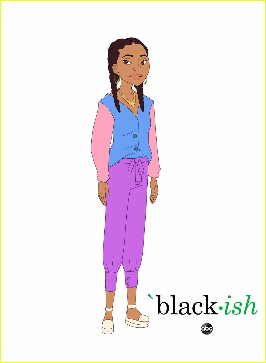 yara shahidi marsai martin more get animated for upcoming blackish episode 05