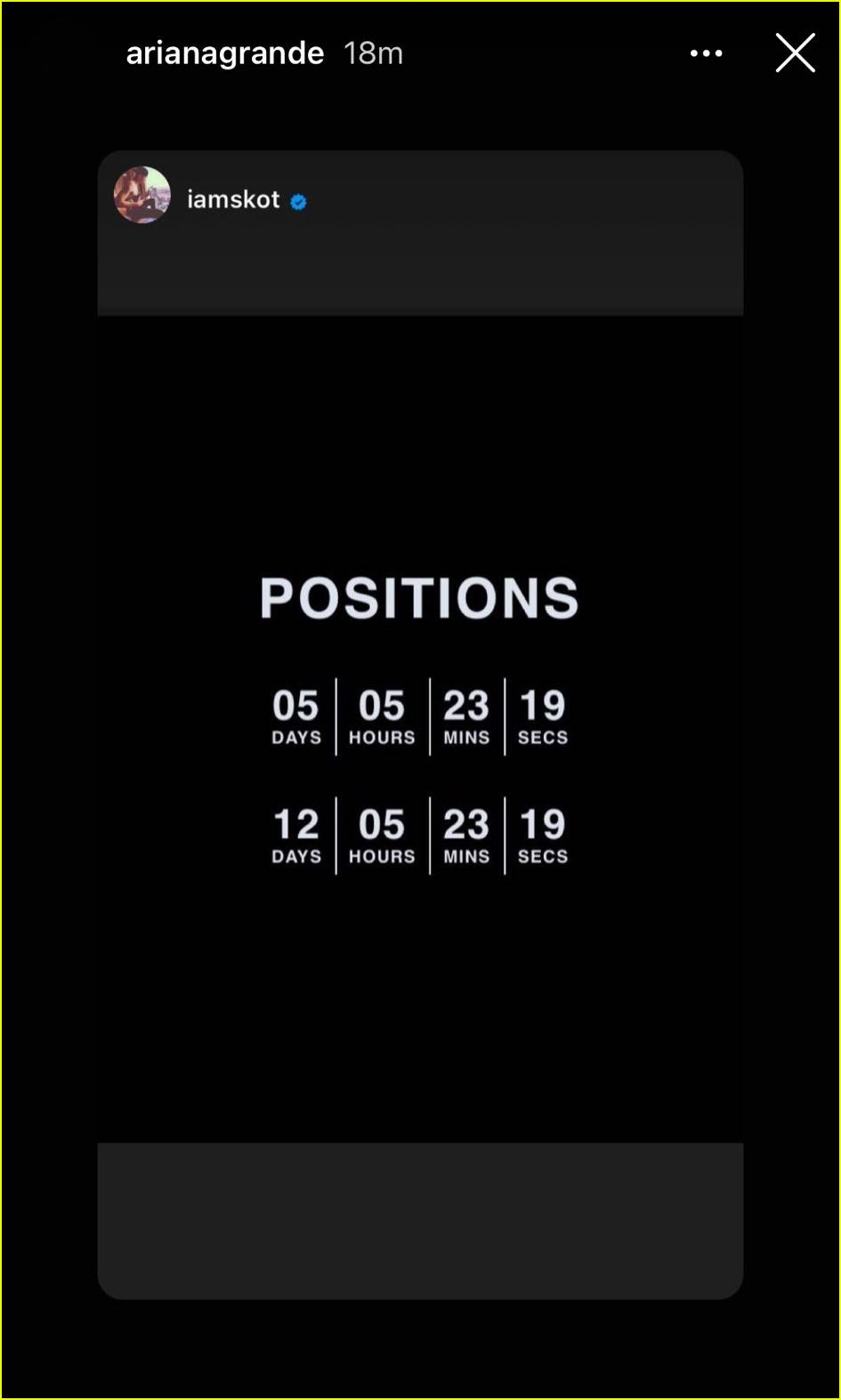 ariana grande positions album title