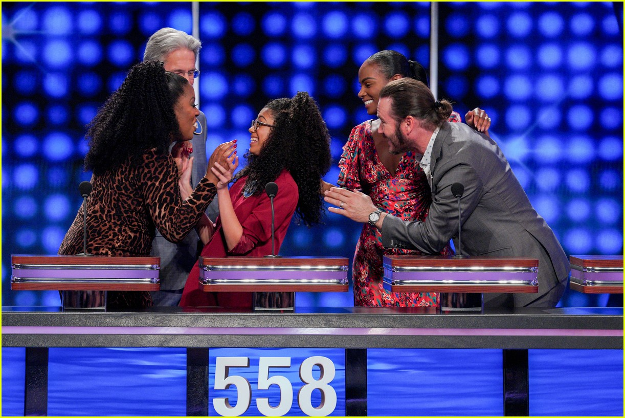 disney channel moms faced off against mixed ish cast on celebrity family feud 11