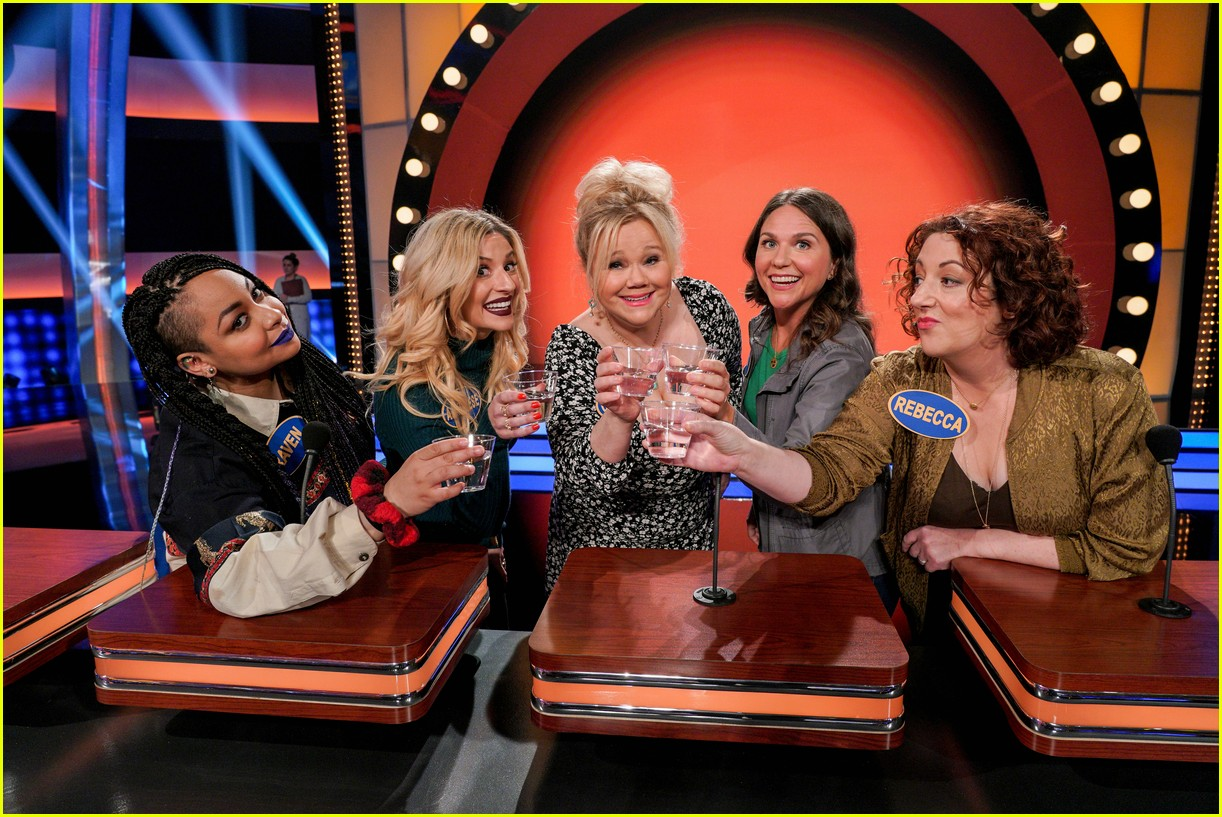 disney channel moms faced off against mixed ish cast on celebrity family feud 22