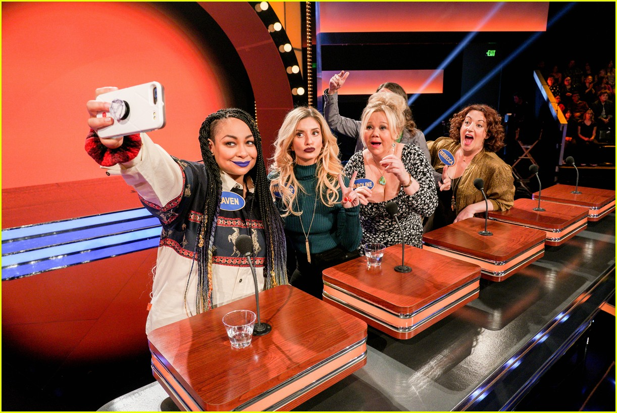 disney channel moms faced off against mixed ish cast on celebrity family feud 23