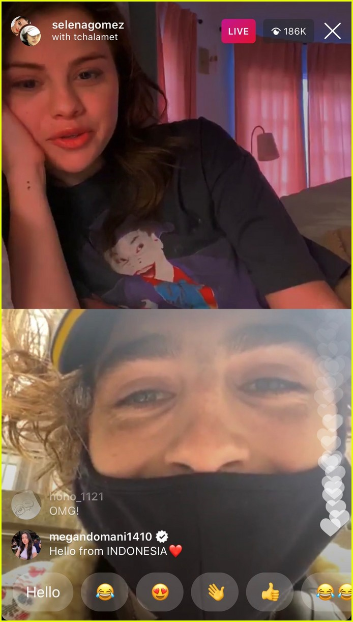 selena gomez timothee chalamet on instagram live 02