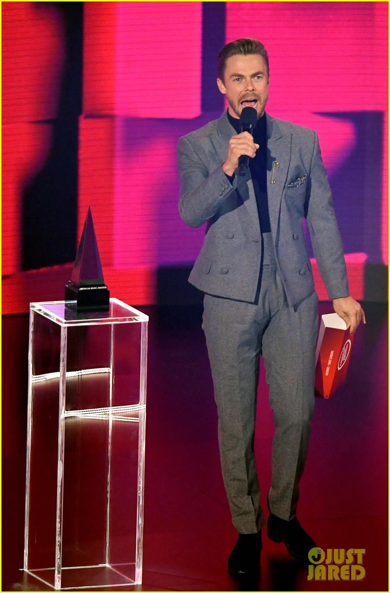 david dobrik derek hough step out for american music awards 01