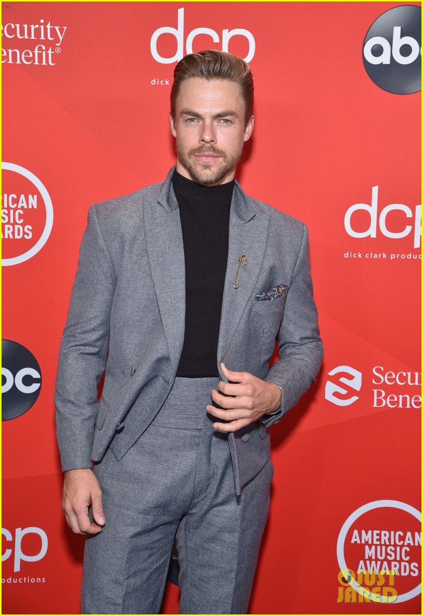 david dobrik derek hough step out for american music awards 03