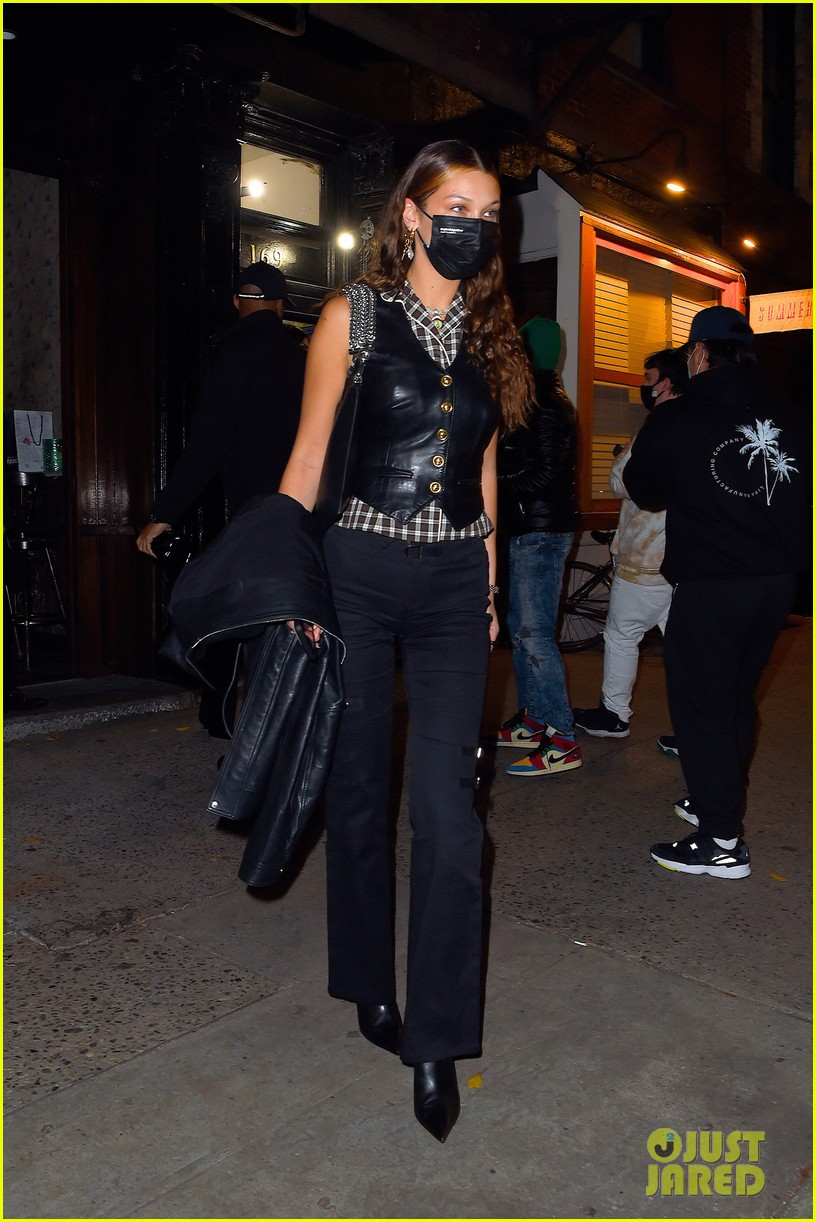 kendall jenner bella hadid out for dinner 03