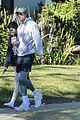 kaia gerber jacob elordi take her dog for a walk 01
