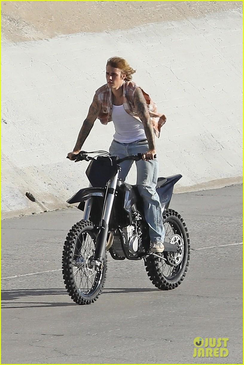 justin bieber rides motorcycle music video 07