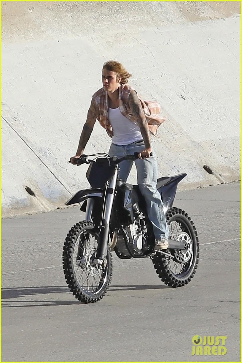 justin bieber rides motorcycle music video 10