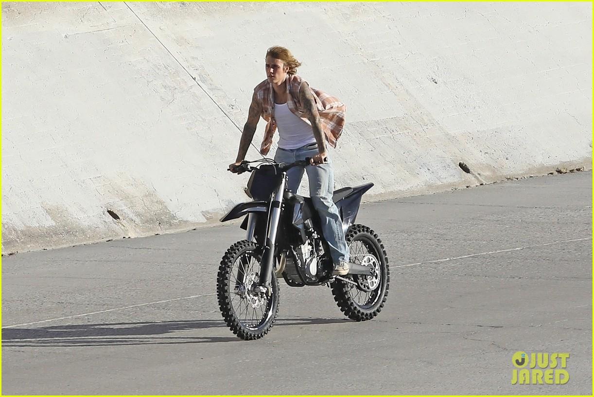 justin bieber rides motorcycle music video 11