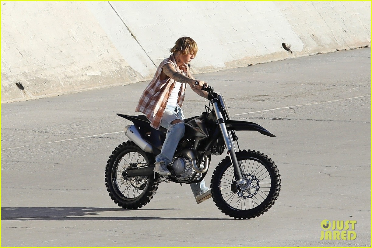 justin bieber rides motorcycle music video 23