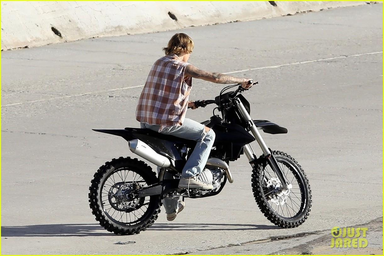 justin bieber rides motorcycle music video 24