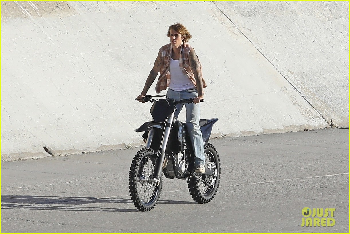justin bieber rides motorcycle music video 26