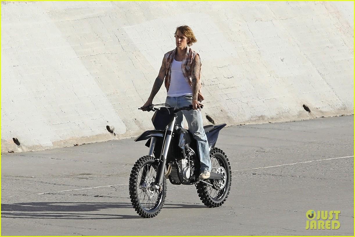 justin bieber rides motorcycle music video 33