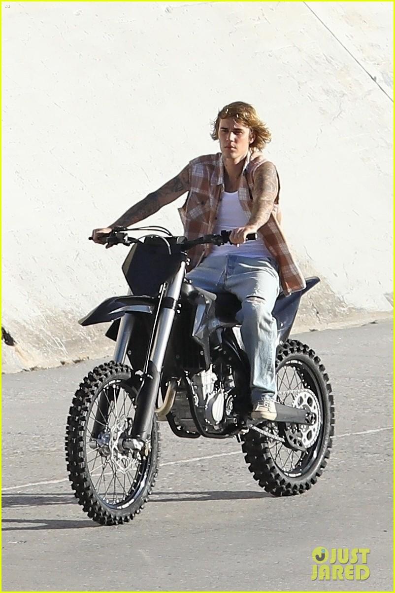 justin bieber rides motorcycle music video 38