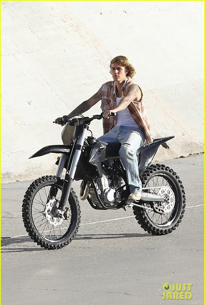 justin bieber rides motorcycle music video 40