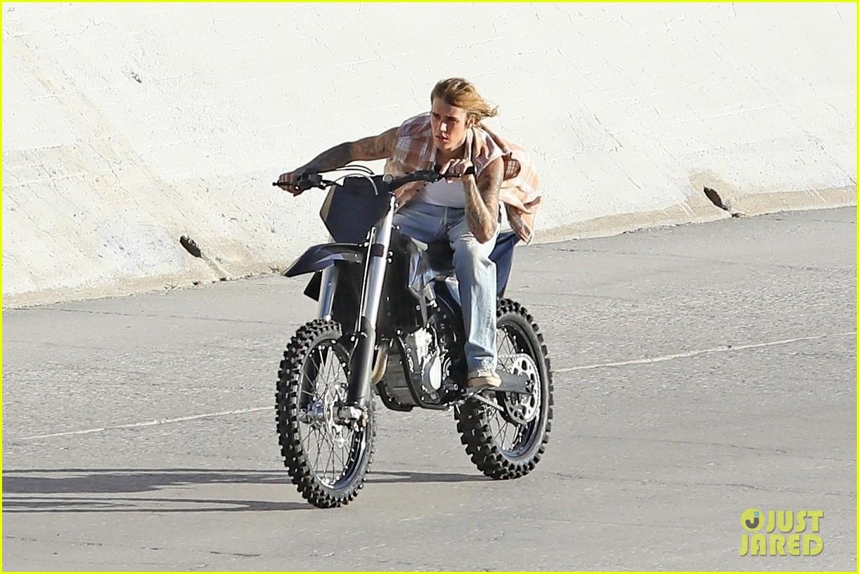 justin bieber rides motorcycle music video 41