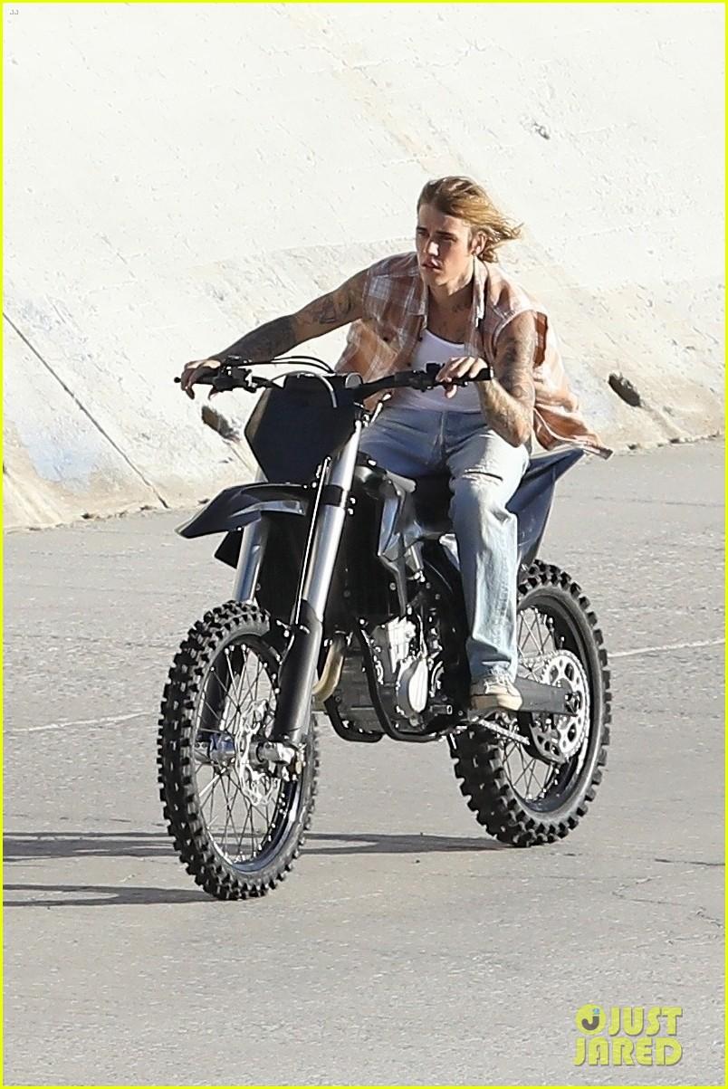 justin bieber rides motorcycle music video 42