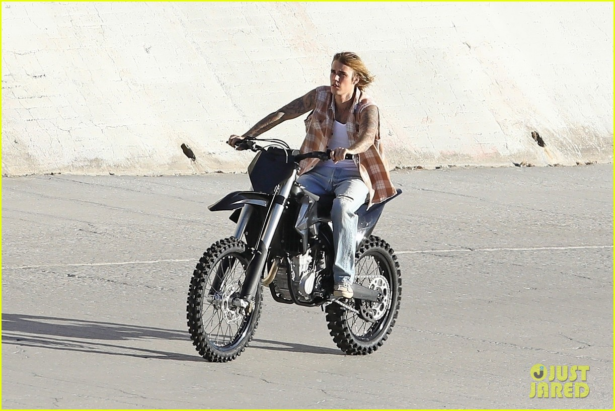 justin bieber rides motorcycle music video 44