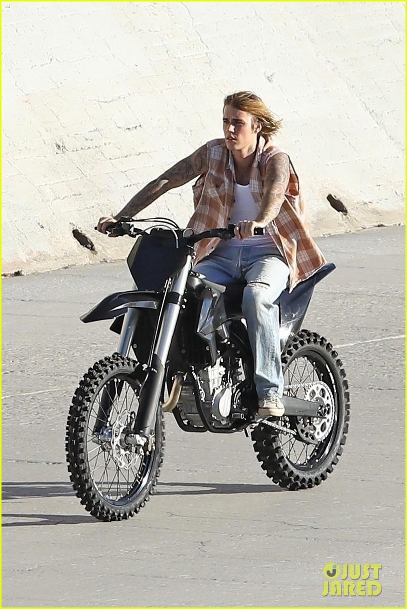justin bieber rides motorcycle music video 45