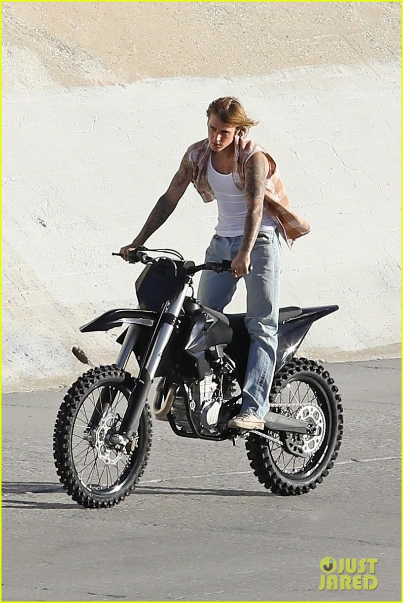 justin bieber rides motorcycle music video 48