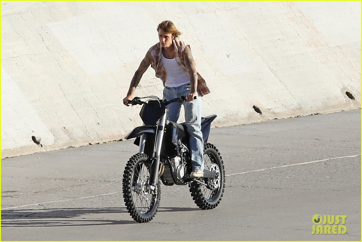 justin bieber rides motorcycle music video 49