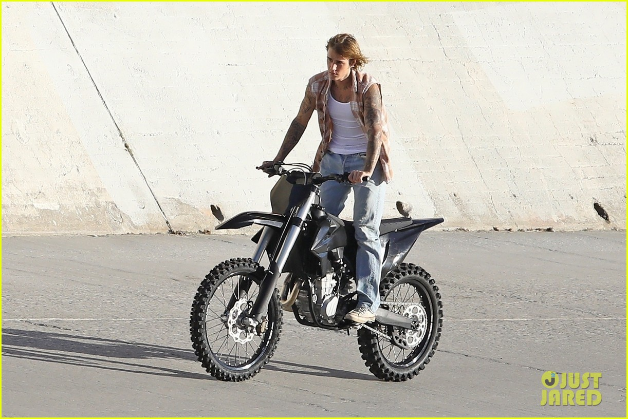 justin bieber rides motorcycle music video 50