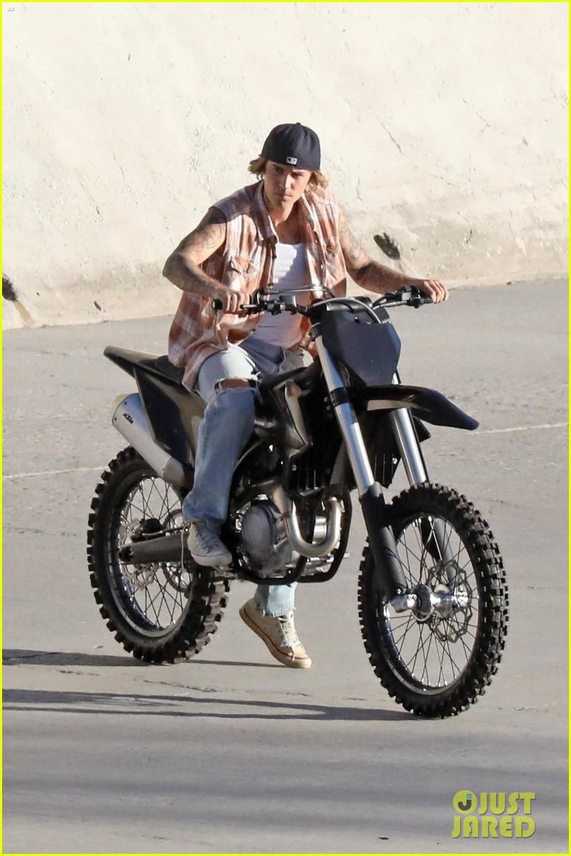 justin bieber rides motorcycle music video 54