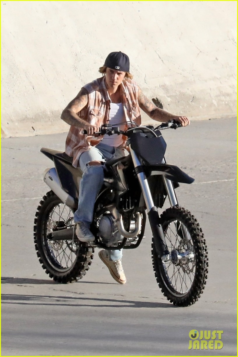 justin bieber rides motorcycle music video 55