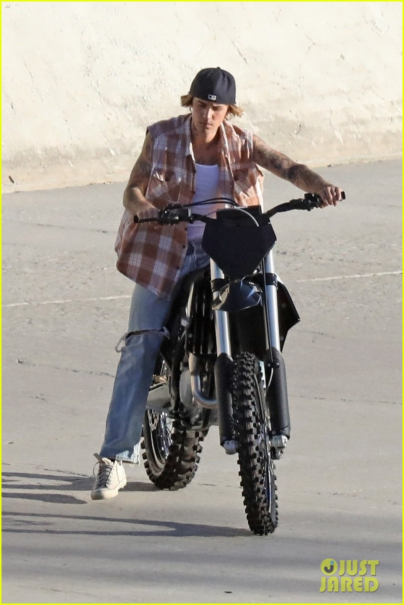 justin bieber rides motorcycle music video 56