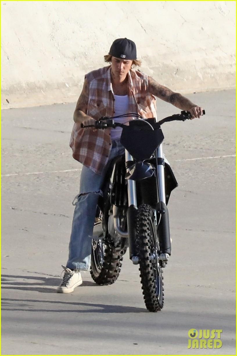 justin bieber rides motorcycle music video 57