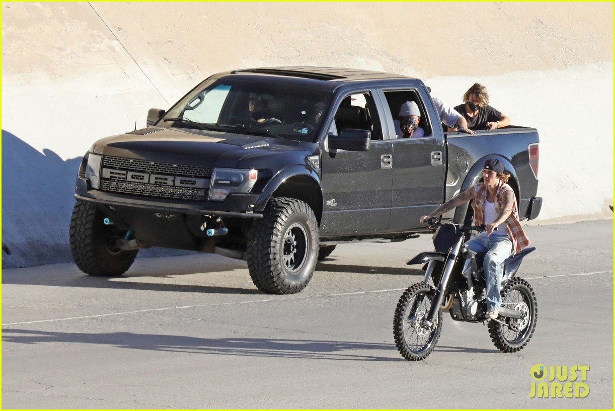 justin bieber rides motorcycle music video 59