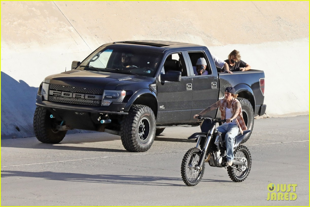 justin bieber rides motorcycle music video 60