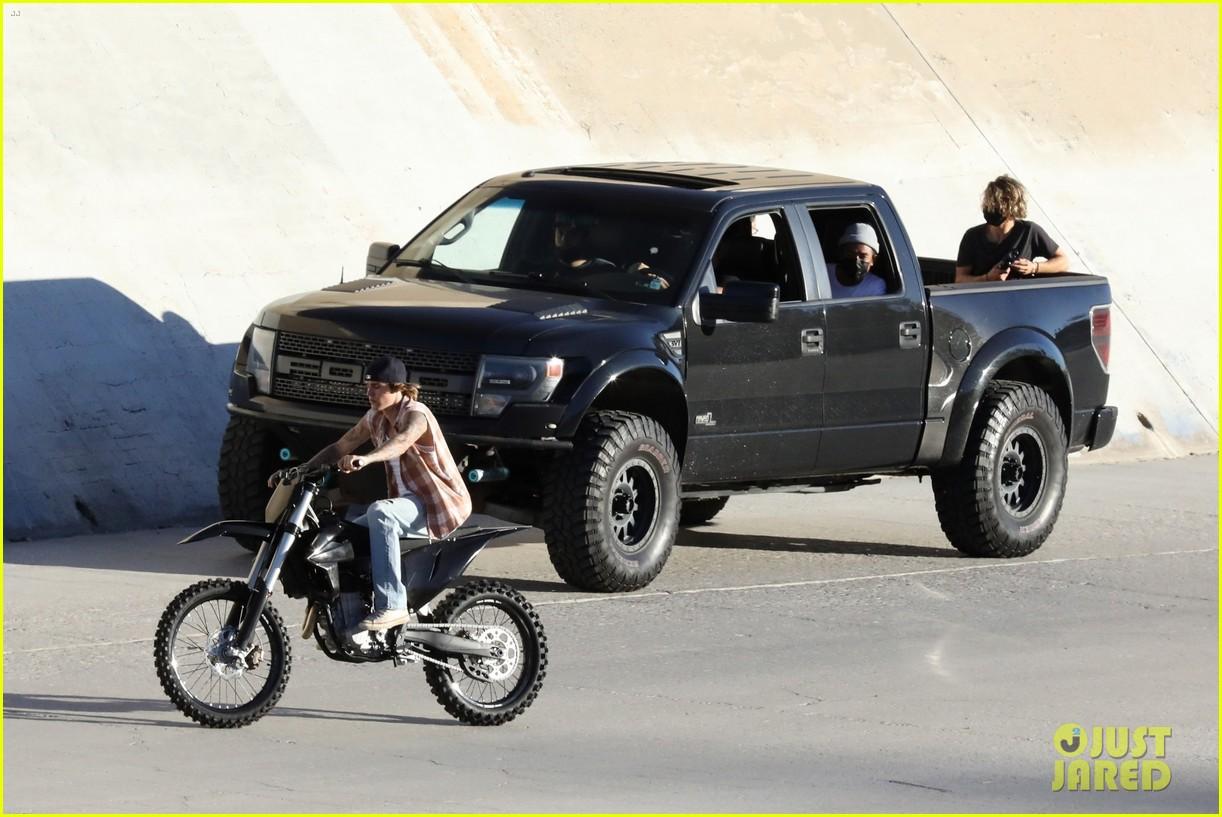 justin bieber rides motorcycle music video 61