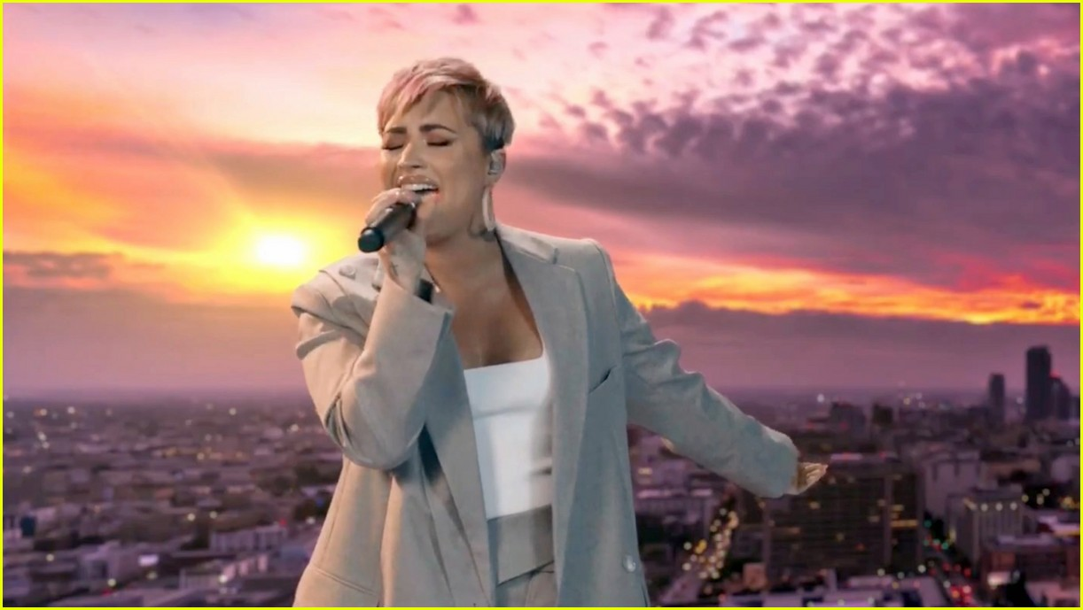 demi lovato covers lovely day for celebrate america 03