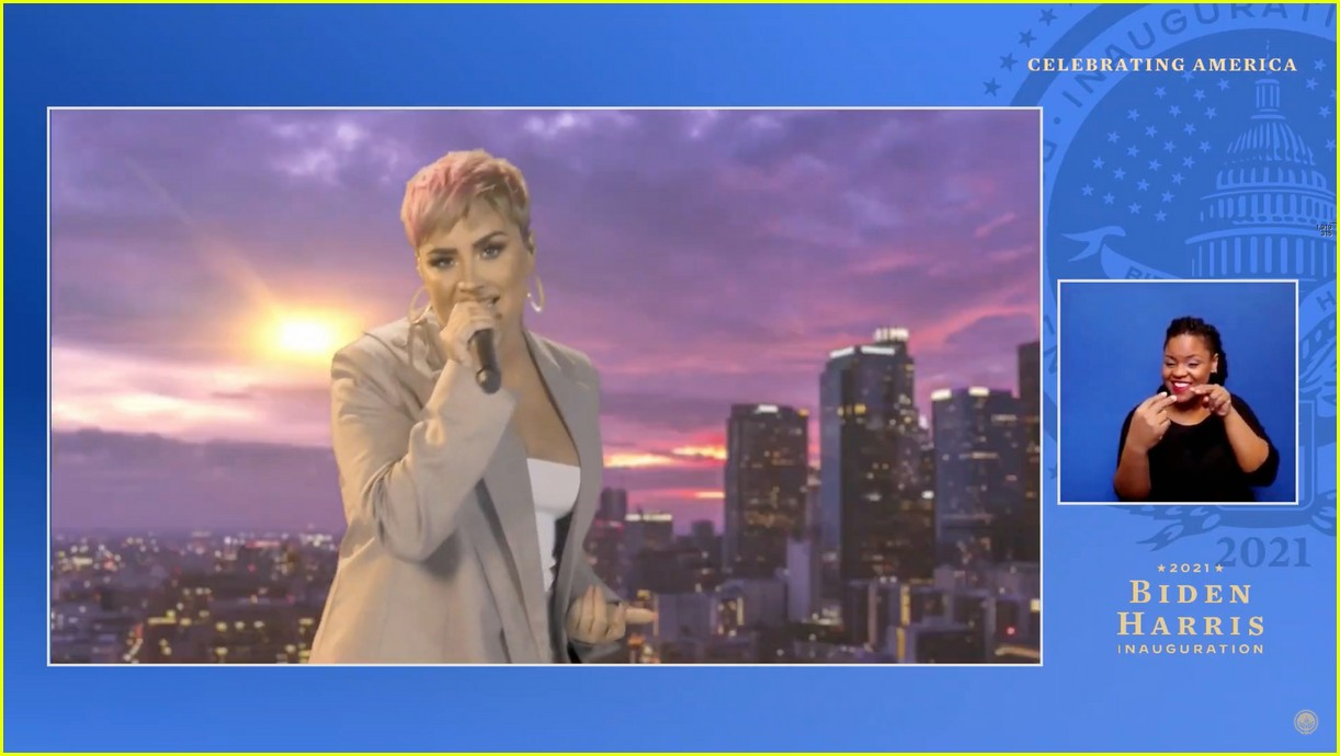 demi lovato covers lovely day for celebrate america 10