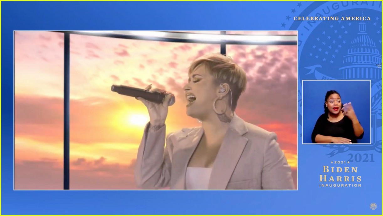 demi lovato covers lovely day for celebrate america 11