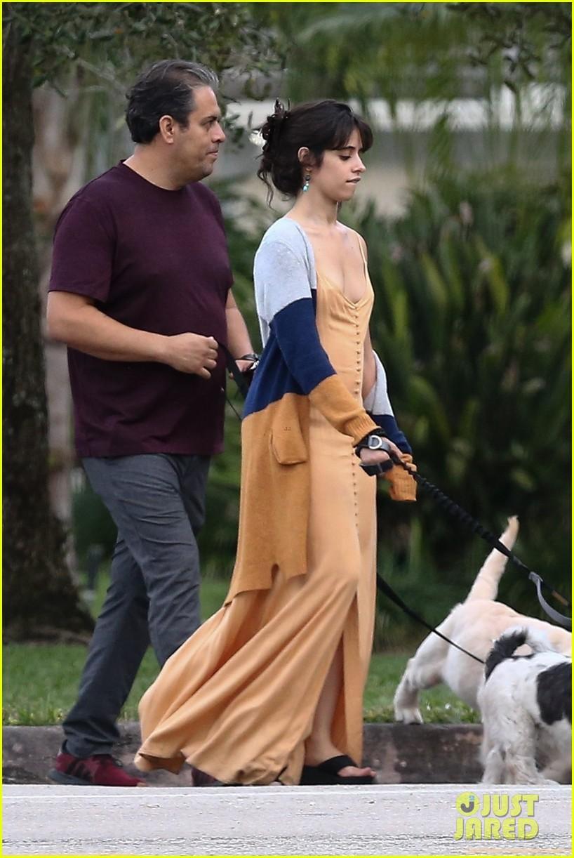 shawn mendes camila cabello walk dogs parents 04