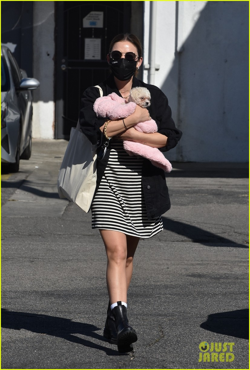 lucy hale new puppy fostered by this star 01